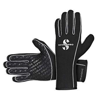 Scubapro Unisex 3mm EverFlex Scuba Dive Gloves - Black, Size - XLarge