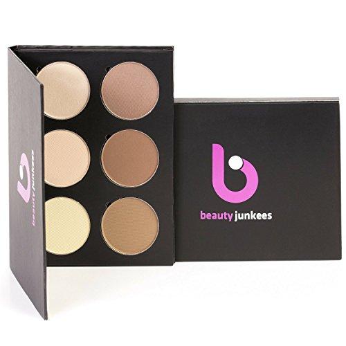 Powder Contour Highlighter Makeup Palette – Beauty Junkees 6 Piece...