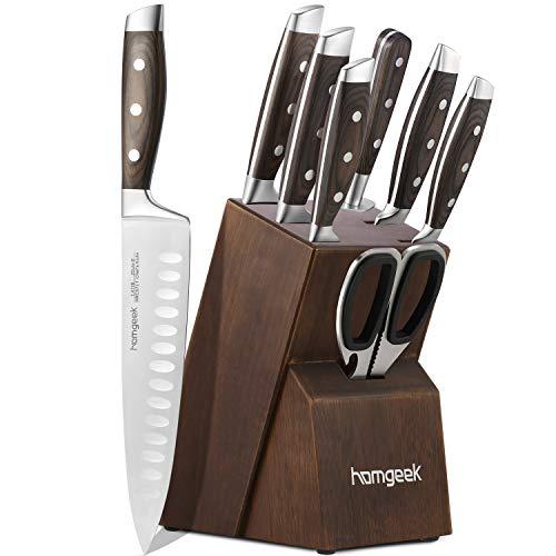 homgeek Set Coltelli da Cucina Professionale, Coltello in Acciaio Inossidabile Tedesco 1.4116 con...