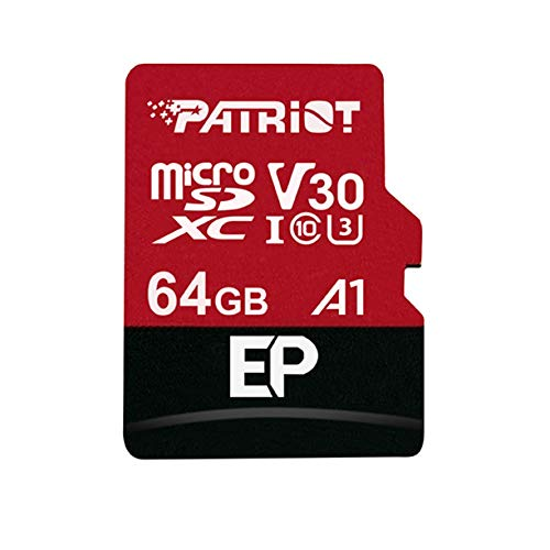Patriot Memory PEF64GEP31MCX 64GB EP A1per Micro SD Card SDXC per telefoni e Tablet Android/4K Video...