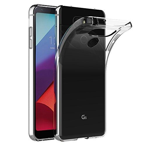 AICEK Cover LG G6, Cover LG G6 (5.7 Pollici) Silicone Case Molle di TPU Trasparente Sottile Custodia per LG G6