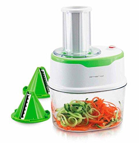 Emerio Elektrischer Spiralschneider Julienne-Schneider für Obst- und Gemüse-Nudeln 120 Watt
