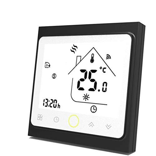 Qiumi Termostato WiFi per riscaldamento di caldaie a gas/acqua funziona con Amazon Alexa Google Home IFTTT Dry Contact 5A 95~240V