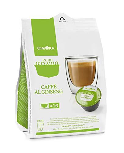 64 Capsule Gimoka Compatibili con Nescafé* Dolce Gusto* - 4 Confezioni da 16 Capsule - Caffè al Ginseng