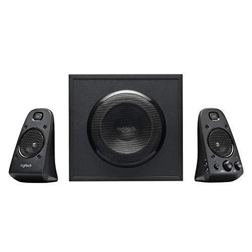 Logitech Z623 Système de Haut-Parleurs 2.1, Certifié THX, Dolby & DTS, 400 Watts en Puissance, Multi-Dispositifs, Entrées Audio 3,5 mm et RCA, Commandes Intégrées, Prise EU, PC/PS4/Xbox/TV/Smartphone