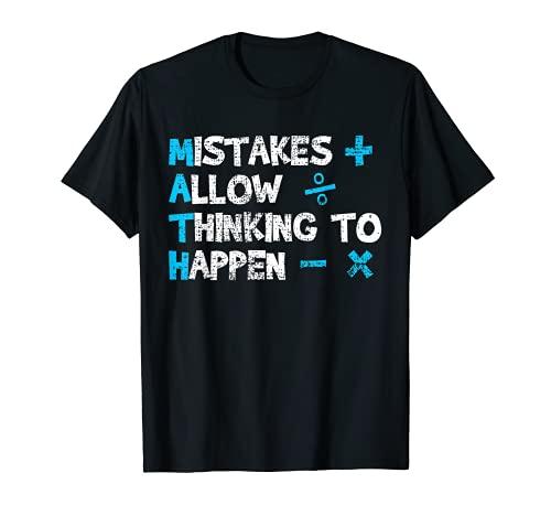 Vintage Math Teacher Funny Saying Gift T-Shirt