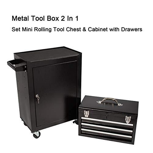 Product Image 6: 3 Drawer Mini Mechanic Tool Box Rolling Garage <a href=