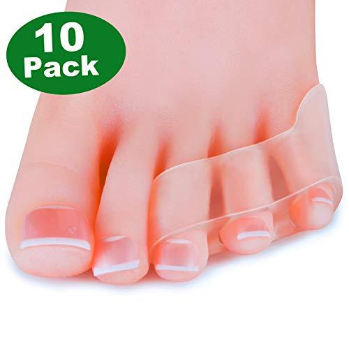 Sumifun [10x] Gel Zehenspreizer Silikon Kleiner Zehenschutz, Krumme Zehen,union Corrector kleiner Zehen Korrektur für Bunion