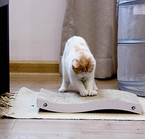 Coching Cat Scratcher Cardboard Curved Shape Scratch Pad with Premium Scratch Textures Design Durable Scratching Pad Reversible