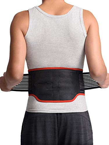 Maxar BMS-511 Lumbar Support Back Brace with 31 Powerful Magnets, Far Infrared Technology, Magnetic Therapy Belt, Pain and Stress Relief, Sciatica, Scoliosis, Herniated Disc, Large 36-40