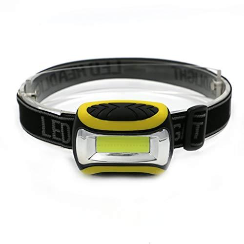 Ausein Linterna Frontal LED Linterna Cabeza, Super Ligera (50g), 3 Modos de Luz, IP44 Impermeable,...