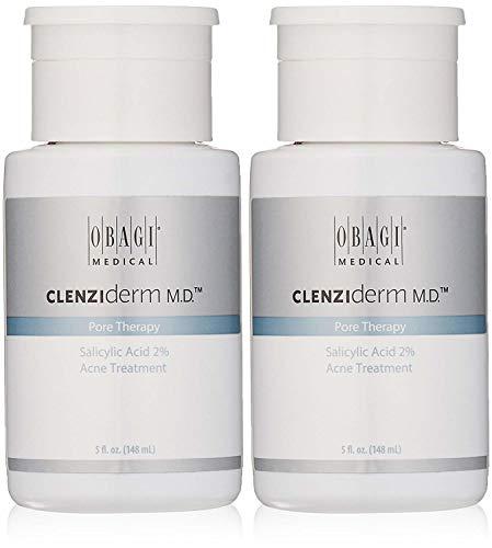 Obagi CLENZIderm M.D. Pore Therapy Salicylic Acid 2% Acne Treatment, 5 Fl Oz Pack of 2