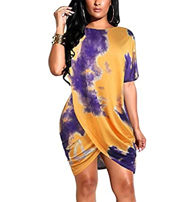 Sexy floral print round neck bandage tunice asymmetrical party short mini sheath club dress Fabric material: Made of 71%-80% polyester and milk fabric Perfect for casual and party wear. It could be worn for daily, night club, evening, business, cockt...