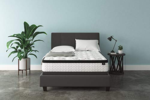 Signature Design by Ashley Chime 12 Inch Plush Hybrid Mattress, CertiPUR-US Certified Foam, Queen