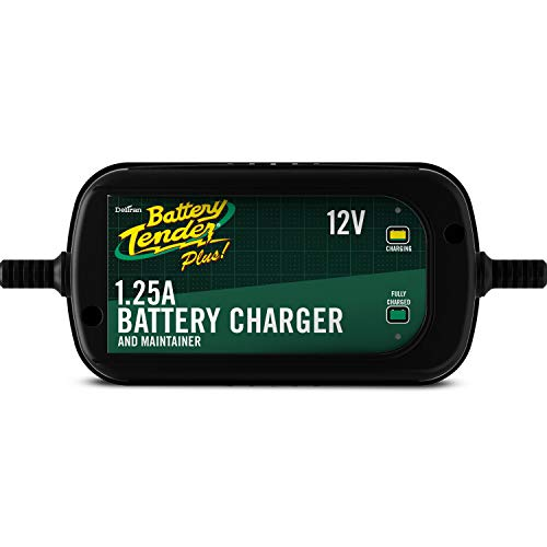 Battery Tender Plus Charger and Maintainer: Automatic 12V Powersports Battery Charger and Maintainer for Motorcycle, ATVs, and More - 12 Volt, 1.25 Amp Battery Chargers - 022-0185G-DL-WH