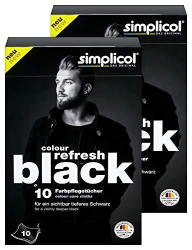 Simplicol Colour Refresh Farbpflegetücher, Schwarz, 20 Stück: Zur...