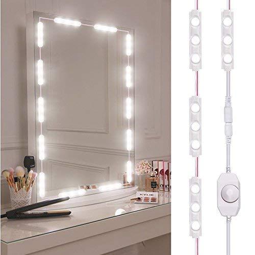 Viugreum Luci da Specchio Dimmabili LED, 60 Luci per Make Up, 1200LM Bianco Freddo 6000K Trattamento...