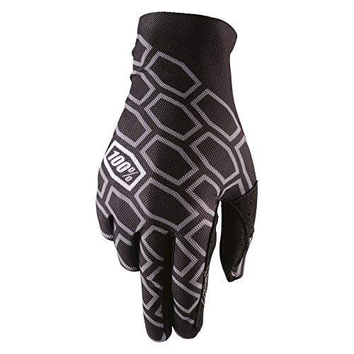 100% Celium Adult Leather/Textile Off-Road Motorcycle Gloves - Timing Black/X-Large