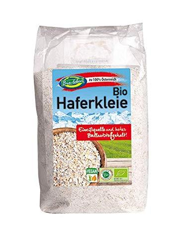 Bio Haferkleie 2,5kg 100% Hafer aus Österreich, Öko, mit Keim, Eiweißquelle, Protein, ballaststoffreich 5x500g