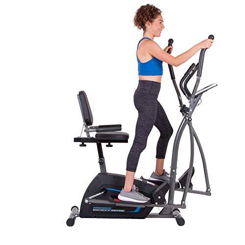 Body Champ 3-in-1 Exercise Machine, Trio Trainer, Elliptical and Upright Recumbent Bike 3