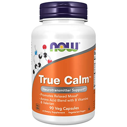 NOW Supplements, True Calm, Amino Acid blend with B Vitamins...