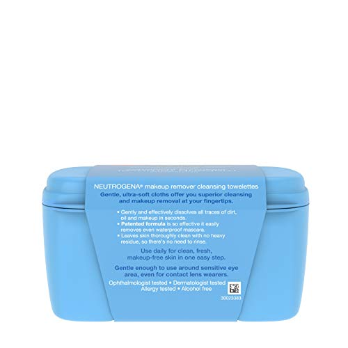 Neutrogena Makeup Remover Facial Cleansing Towelettes, Daily Face Wipes to Remove Dirt, Oil, Makeup & Waterproof Mascara, Gentle, Alcohol-Free, 25 ct 8