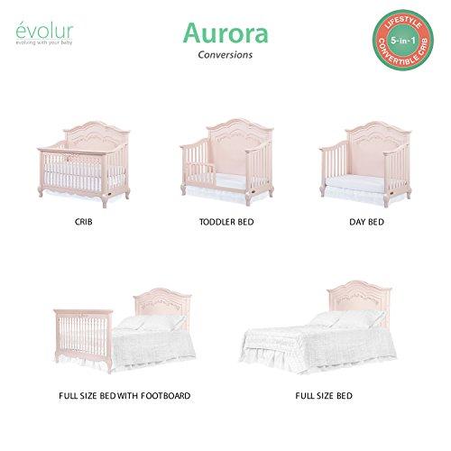 Product Image 10: Evolur Aurora 5-in-1 Convertible Crib, Blush Pink Pearl
