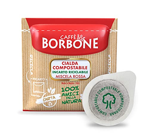 Caffè Borbone Cialda Compostabile, Miscela Rossa - 150 Cialde - Sistema ESE