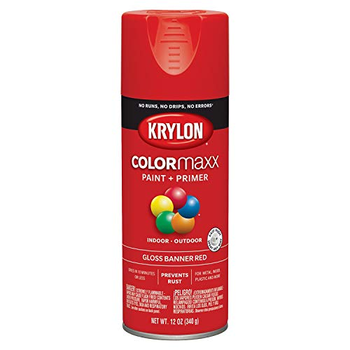 Krylon K05503007 COLORmaxx Spray Paint, Aerosol, Banner Red