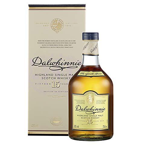 Dalwhinnie Highland Single Malt Scotch Whisky - 15 Jahre gereift - Aromen von Heidekraut und Honig -...