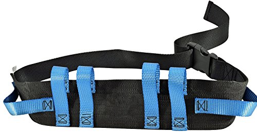 Gait Belt with Handles and Quick Release Plastic Buckle - Transfer Belts for Patient Care with 6 Secure Patient Lift Hand Grips. Suitable up to 52' Waist