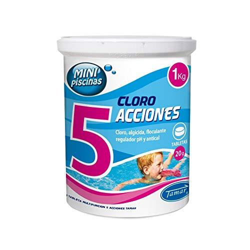 LOLAhome Cloro en tabletas de 20 gr para Mini Piscinas de 5
