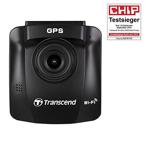 Transcend DrivePro 230Q Dashcam/Autokamera inkl. 32GB Speicherkarte, G-Sensor, 1080P Full HD Aufnahme, angepasst an deutsche Datenschutzbestimmungen (keine Daueraufnahme), TS-DP230Q-32G