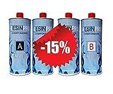 3,2 KG Resina Epossidica Ultra Trasparente Atossica - Resina + Indurente, Effetto Acqua per Creazioni Artistiche, Rivestimento Superfici, Modellismo, DIY, Bricolage