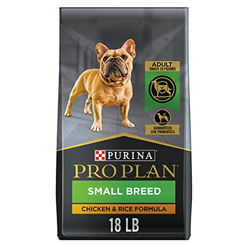Purina Pro Plan High Calorie, High Protein Small Breed Dry Dog Food, Chicken & Rice Formula - 18 lb. Bag