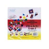 Papel dobradura para origami 3 em 1 leoni