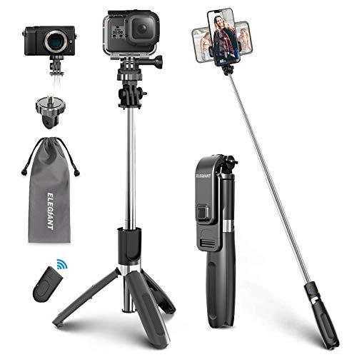 ELEGIANT Perche Selfie, Selfie Stick Bluetooth Trépied Bluetooth Bâton de...
