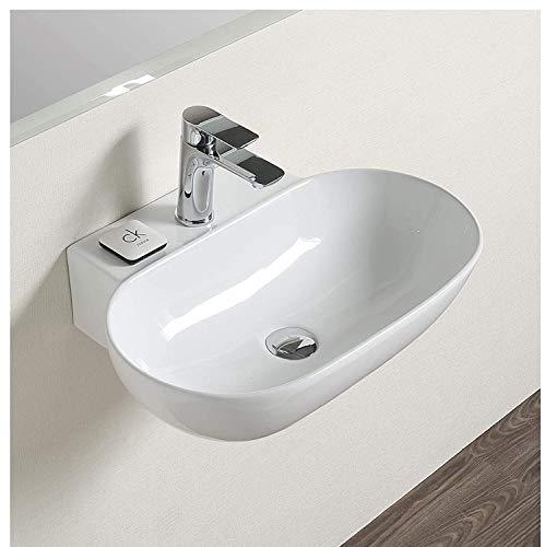 Vessel Sink, White, Polished Finish