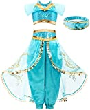 FUNNA Costume for Girls Princess Kids Dress Up Outfit Party Supplies, 2T - 3T Blue
