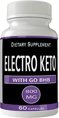 Electro Keto with Go BHB Capsules Ketones Ketogenic Supplement for Weight Loss Pills 60 Capsules 800 MG GO BHB Salts to Help Your Body Enter Ketosis More Quickly 1