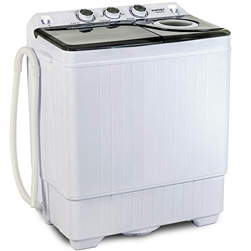 KUPPET Compact Twin Tub Portable Mini Washing Machine 26lbs Capacity, Washer(18lbs)&Spiner(8lbs)/Built-in Drain...