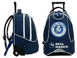 Real Madrid - Mochila con ruedas, colección oficial