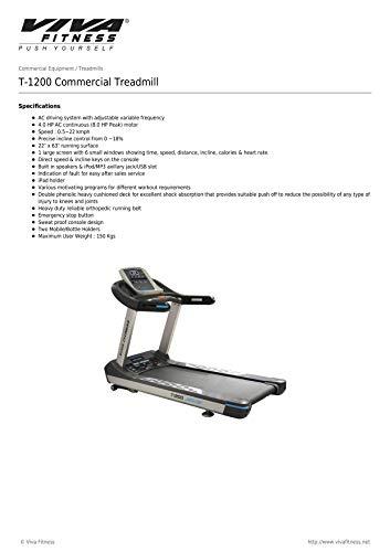 Viva Fitness T-1200 Commercial AC Motor Treadmill (5 Year Motor Warranty + Free Installation) 3
