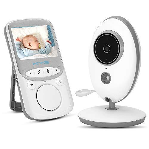 KYG Baby Monitor Wireless Audio Video Babyphone con Fotocamera Digitale Visione Notturna Monitoraggio della Temperatura e Citofono 2.4 GHz