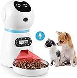 Comedero Automático de Mascotas para Perros y Gatos, Dispensador de Comida, Alimentador Automático de Mascotas, con Temporizador, Pantalla LCD, Grabación de Voz, Detección de Infrarrojos (3.5L)