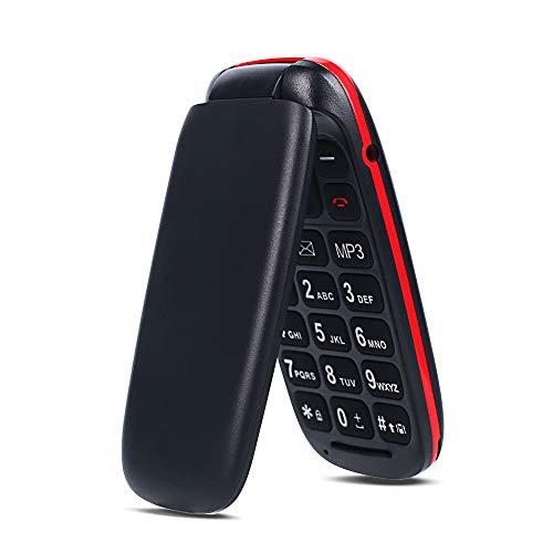 Ukuu Téléphone Portable a Clapet avec Grandes Touches Grand 1,8 Pouces Dual SIM Débloqué GSM Batterie Grande Capacité Telephone Senior - Noir