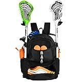 ERANT Lacrosse Bag Backpack – Lacrosse Bags for Boys – Girls Lacrosse Backpack with Stick Holder – Lacrosse Bags for Girls – Field Hockey Bags – Lacrosse Stick Bag – Lax Backpack – Lacrosse Bag Youth