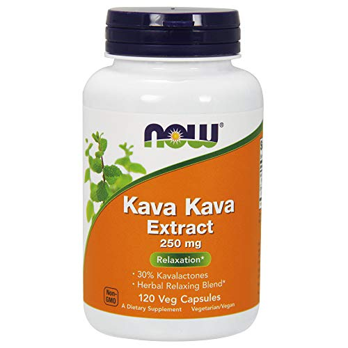 NOW Supplements, Kava Kava 250 mg, 60 Veg Capsules