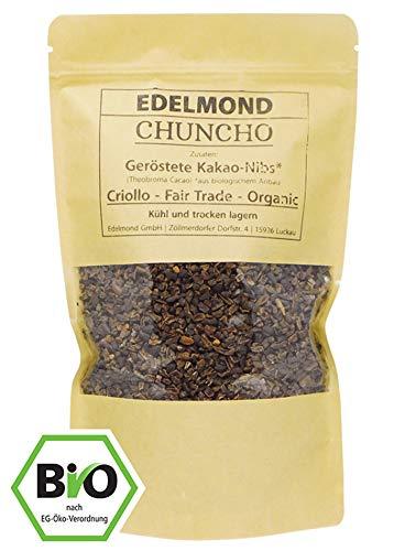 Edelmond Chuncho geröstete Bio Kakao Nibs. Frischer allerbester Criollo Anden-Cacao. Low Cadmium