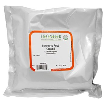 Frontier Natural Products, Organic Ground Turmeric Root, 16 Oz (Pack of 2)
